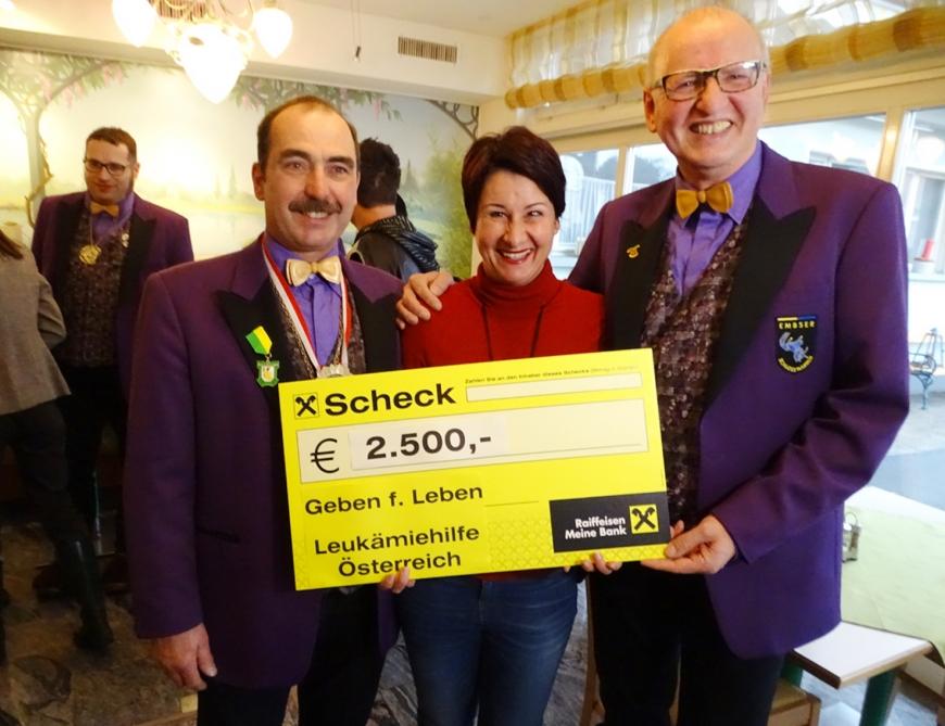 'Schlossnarren aus Hohenems spenden tolle Summe an unseren Verein'-Bild-1
