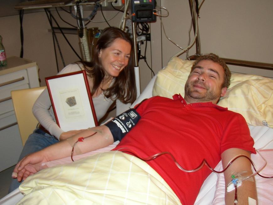 'Erstes Treffen zwischen Spender und Patientin - und wir waren dabei'-Bild-3