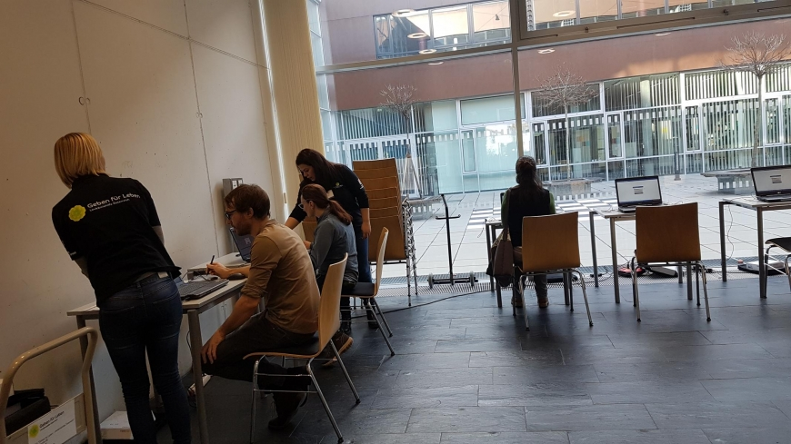 'Tolle Typisierungsaktion durch Maturaprojekt von vier engagierten Jugendlichen'-Bild-5