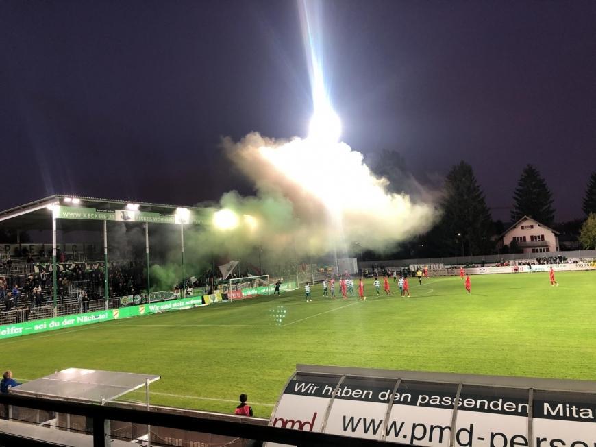 'Fans und Spieler der beiden Fussballclubs Austria Lustenau und FC Augsburg zeigten großes Herz'-Bild-2