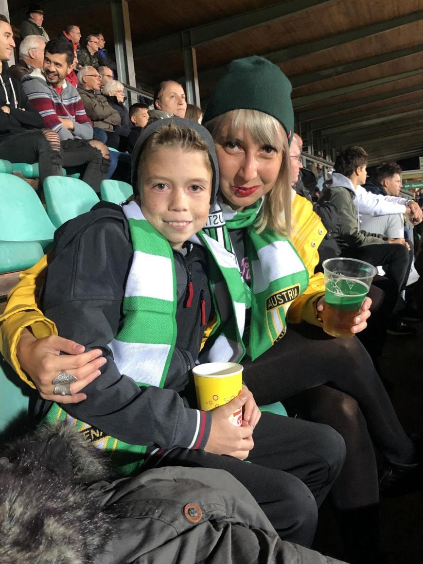'Fans und Spieler der beiden Fussballclubs Austria Lustenau und FC Augsburg zeigten großes Herz'-Bild-3