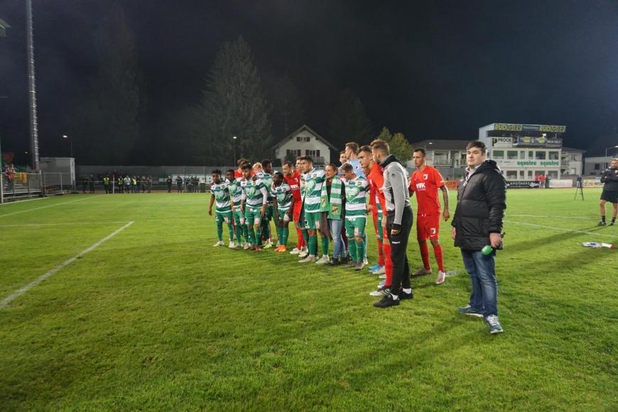 'Fans und Spieler der beiden Fussballclubs Austria Lustenau und FC Augsburg zeigten großes Herz'-Bild-5
